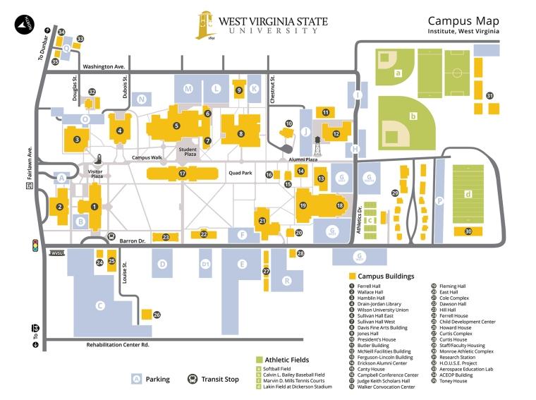 Wvsu Campus Map